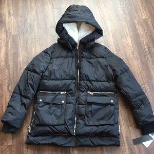 NWT MADDEN NYC M Medium BLACK PUFFER JACKET COAT
